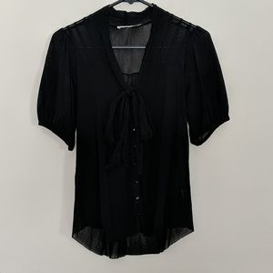 Sheer button up blouse!